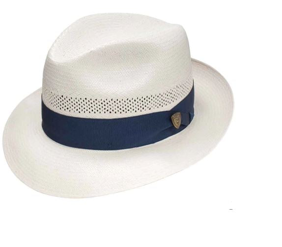 Dobbs Vented Center Dent Straw Hat
