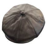 Capas Italian Leather Newsboy Cap