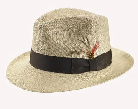 Stefeno Twisted Panama Fedora Hat