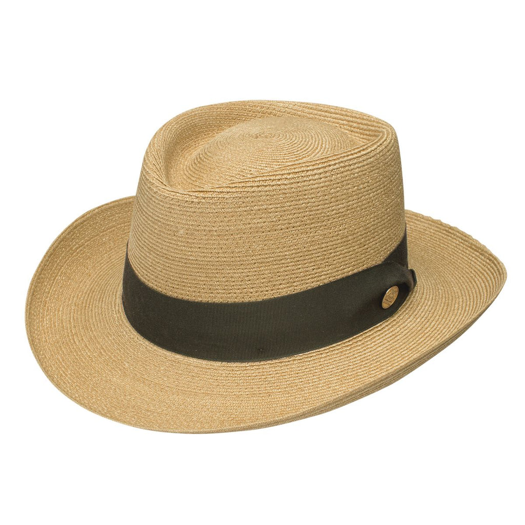 Stetson Pin Seeker Straw Gambler Hat