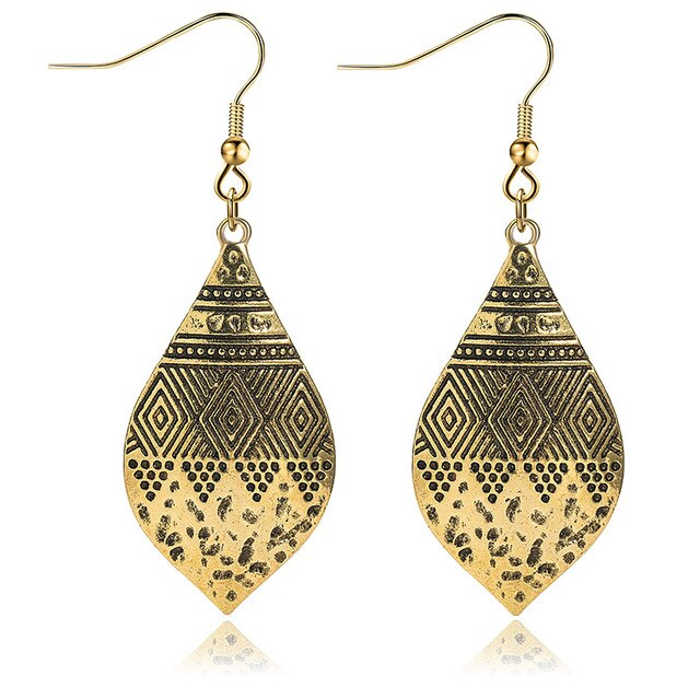 Indian tribal brass earrings