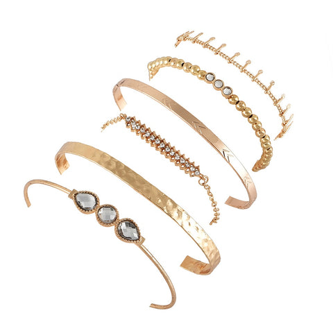 Retro style metal bracelet set