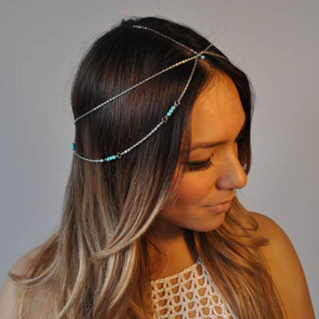 Multilayer beaded head chain