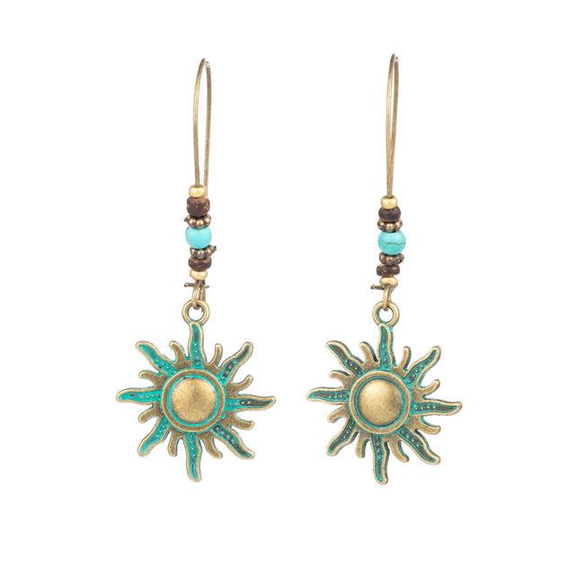 Vintage Boho sun earrings