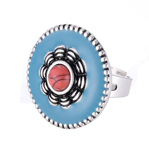 Vibrant adjustable ring