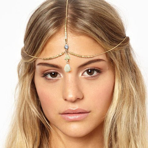 traditional boho head chain