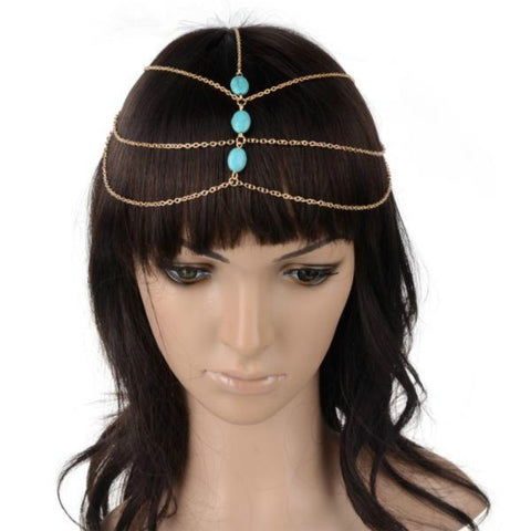 Multilayered bohemian head chain