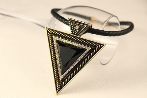 Elemental triangle boho necklace