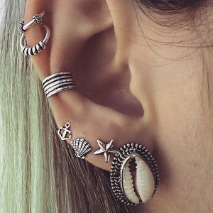 Tibetan boho earrings