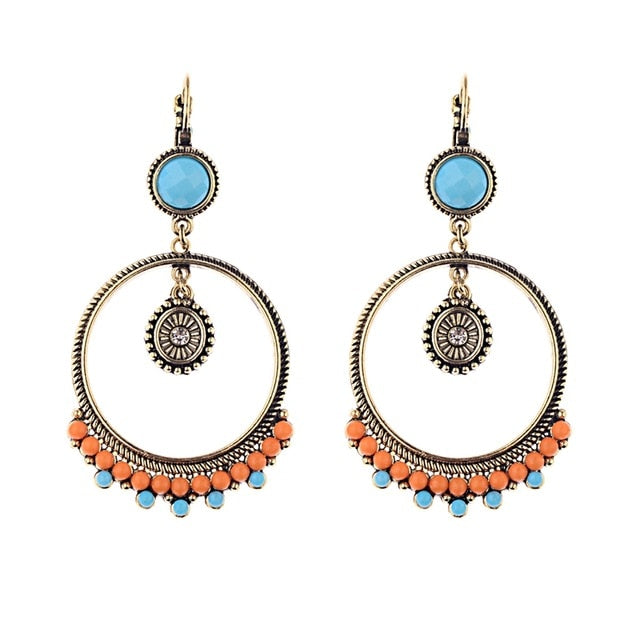 Indian Big round danglers earrings