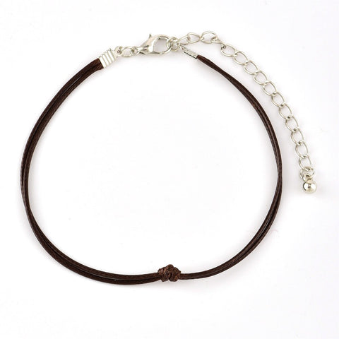 Retro leather anklet