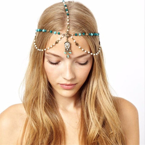 Boho Indian tiara/head chain