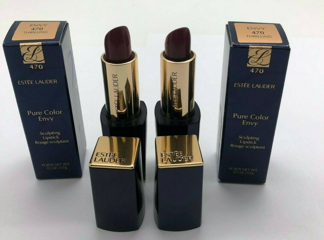 Estee Lauder Pure Color Envy Sculpting Lipstick - Thriller - ( 2 PACK)