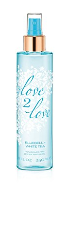 Love2Love Fragrance Mist Eau de Toilette Spray, Blue Bell/White Tea, 8 Fluid Ounce