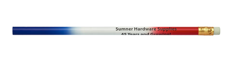 Pencil Guy Shop Promotional Personalized Imprinted Three-Colored Flag (Red, White, Blue) Pencil - Pencil Guy Shop