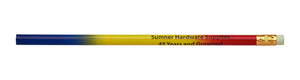 Pencil Guy Shop Promotional Personalized Imprinted Three-Colored Rainbow (Red, Yellow, Blue) Pencil - Pencil Guy Shop