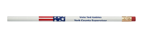 Pencil Guy Shop Stars & Stripes Promotional Personalized Imprinted Round Pencil - Pencil Guy Shop