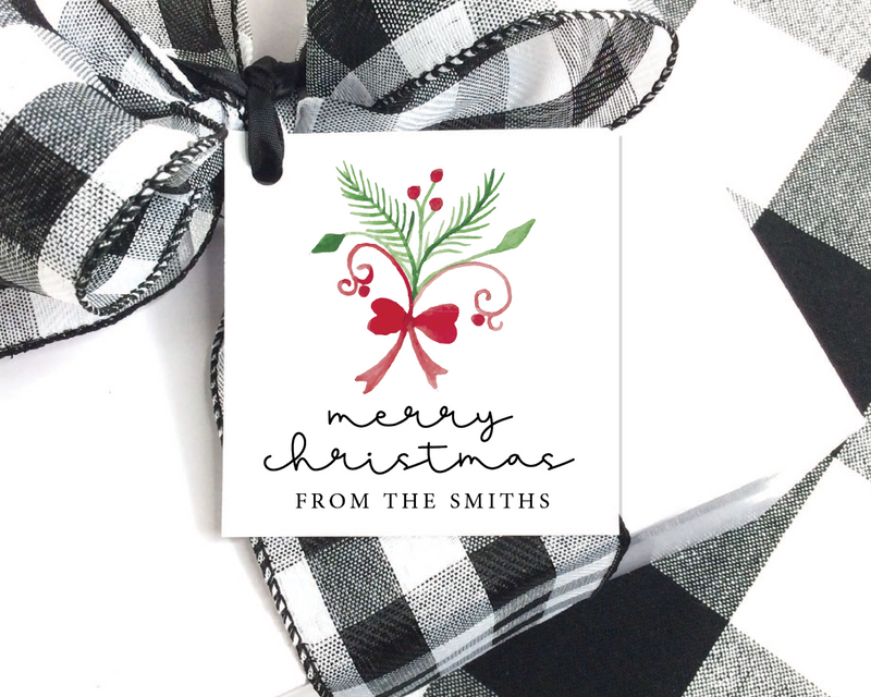 Holiday Gift Tags  |  Bouquet
