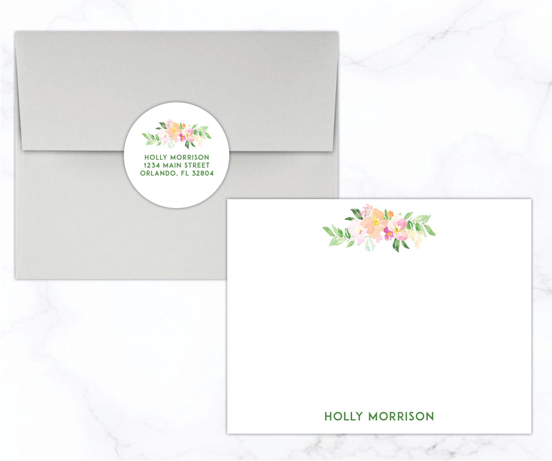 Floral Stationery Set