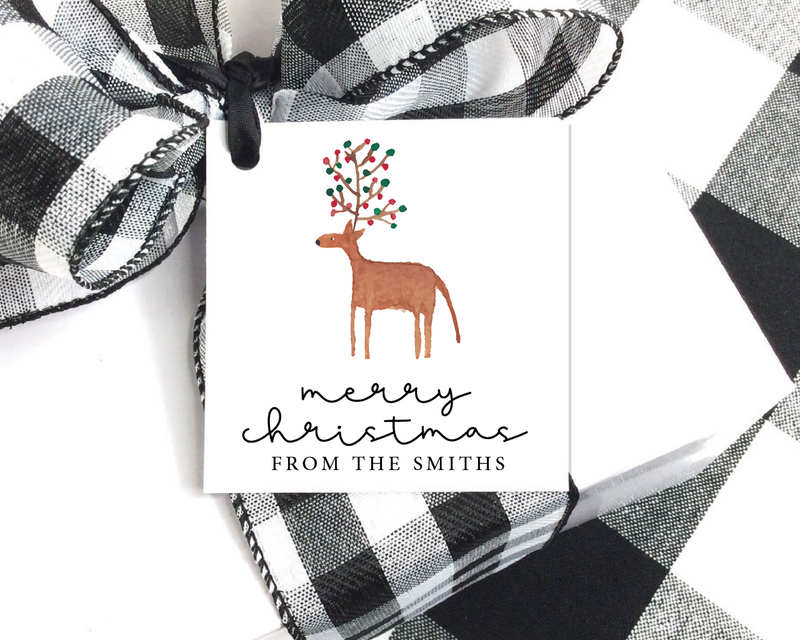 Holiday Gift Tags  |  Reindeer