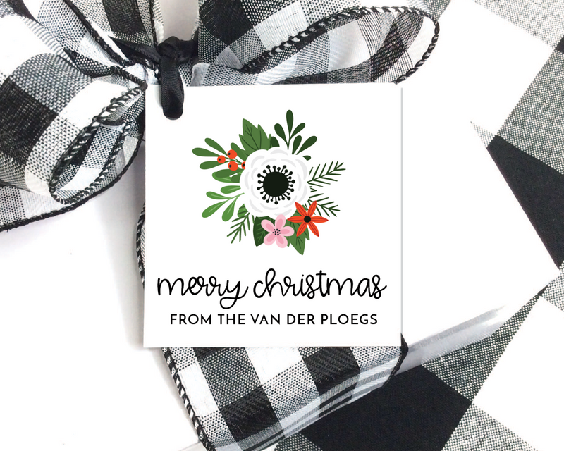 Holiday Gift Tags  |  Floral