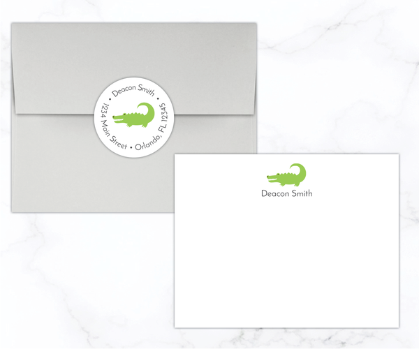 Gator Flat Note Cards