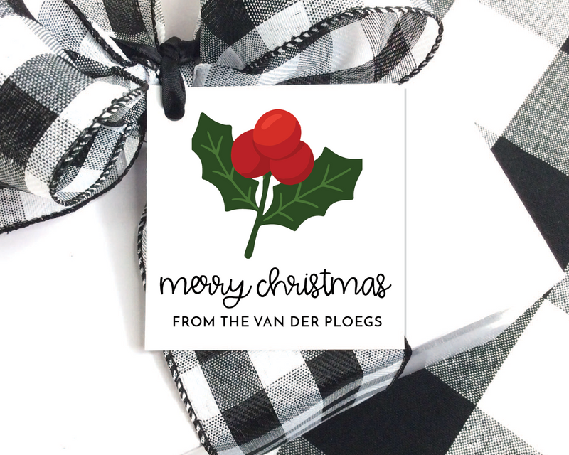 Holiday Gift Tags  |  Holly