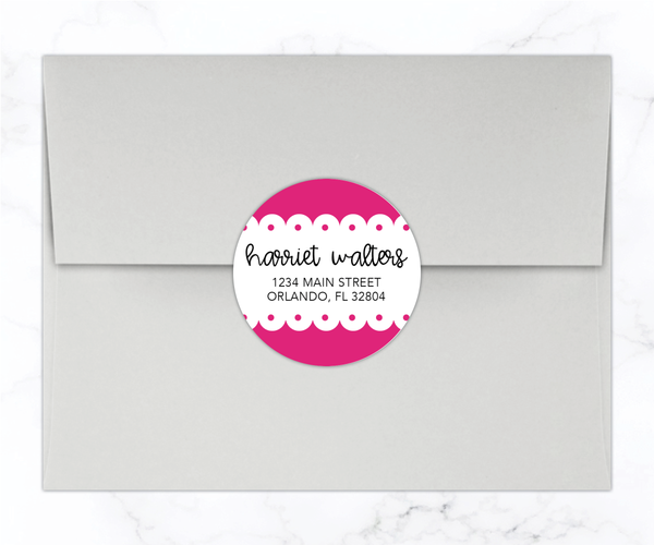 Scalloped Round Return Address Labels