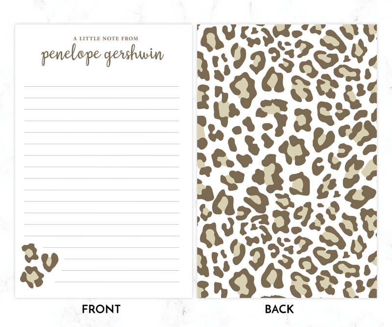 Kids Letter Writing Set • Leopard Stationery