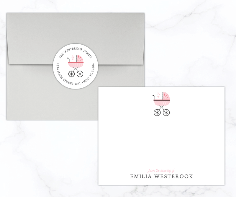 Vintage Pram Stationery Set