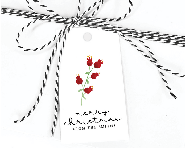 Holiday Gift Tags  |  Berry Branch
