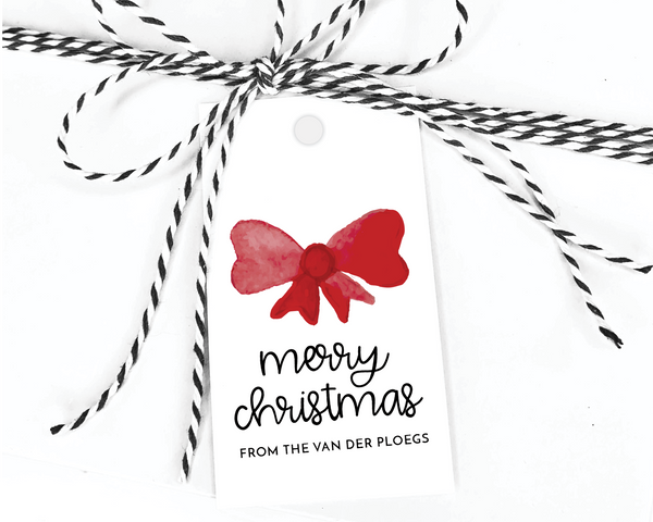 Holiday Gift Tags  |  Red Bow