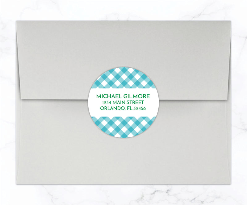 Gingham Monogrammed Stationery