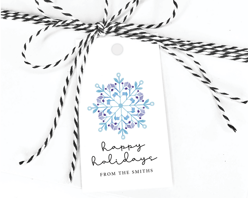 Holiday Gift Tags  |  Snowflake