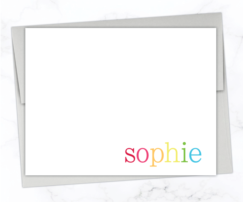 Bright & Colorful Personalized Stationery Set