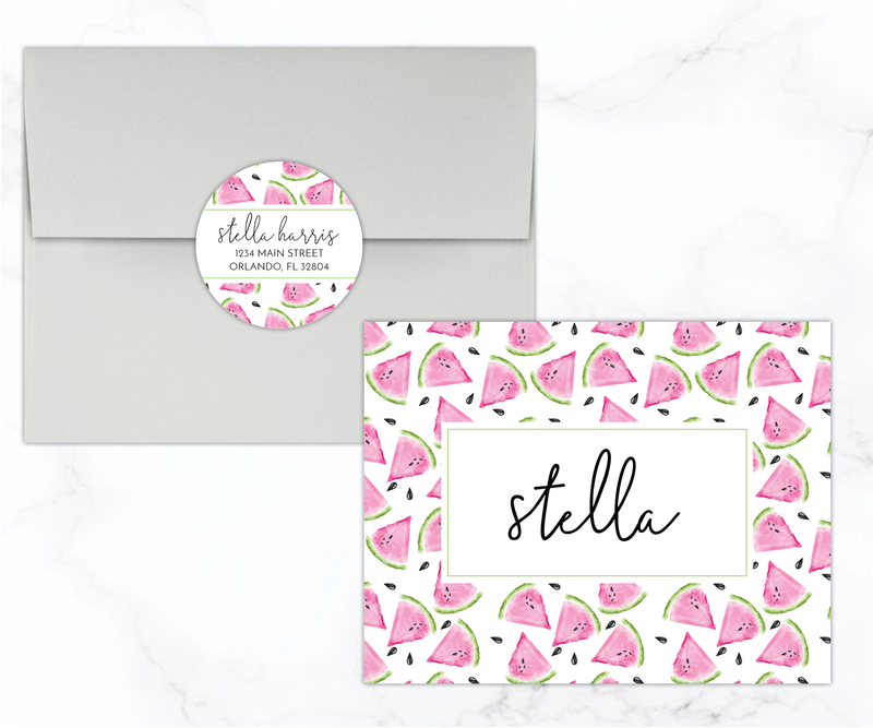 Watermelon Personalized Stationery