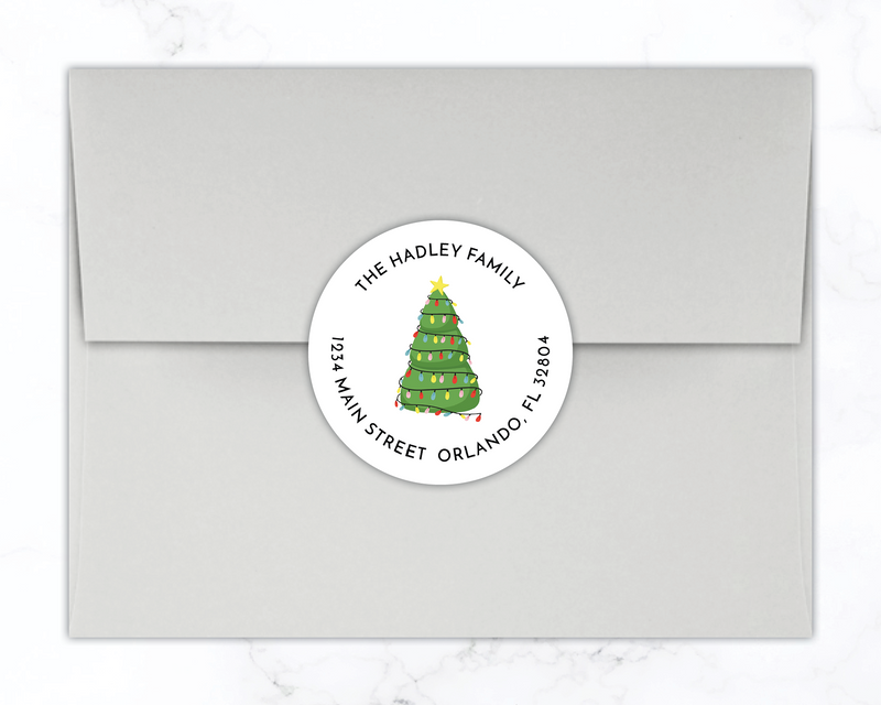 Holiday Return Address Labels