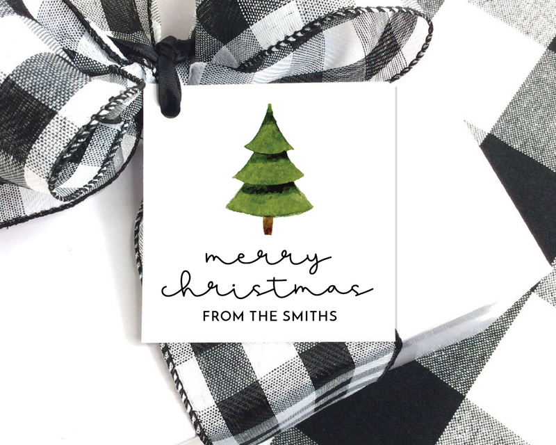 Holiday Gift Tags  |  Christmas Tree