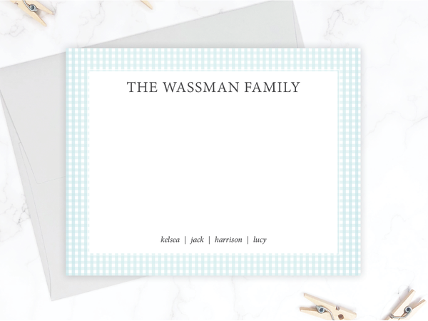 Personalized Family Stationery Set