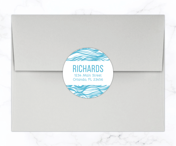 Round Return Address Labels
