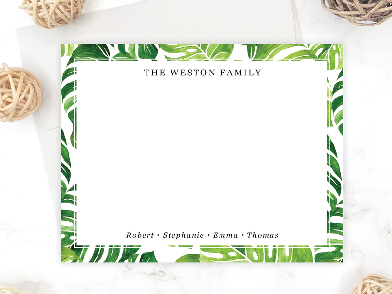 Monstera Stationery Set