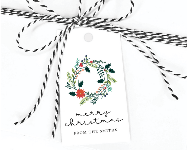 Holiday Gift Tags  |  Floral Wreath