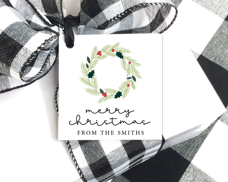 Holiday Gift Tags  |  Wreath