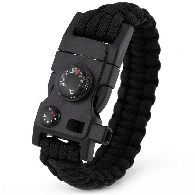 15 In 1 Outdoor Survival Paracord Bracelet - arkansastrek