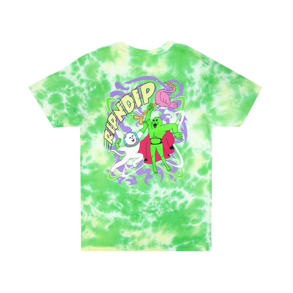 Rip N Dip Astronomic T-Shirt - Green Lightning Wash