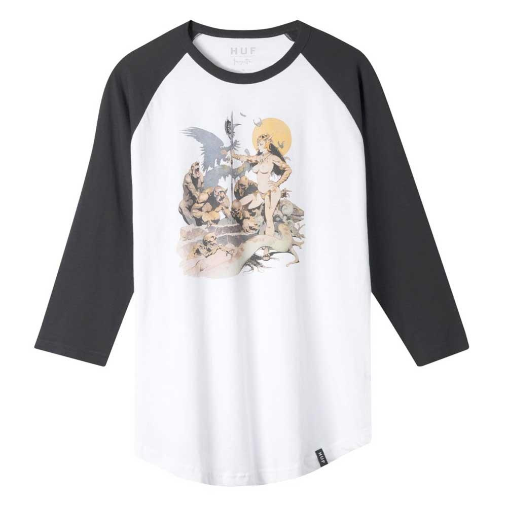 HUF Frazetta Rocker Raglan Longsleeve T-Shirt - White - Aylesbury Skateboards UK