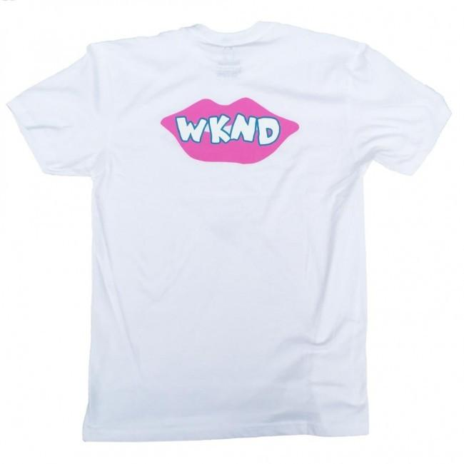 WKND Lips Are Sealed T-Shirt - White - Aylesbury Skateboards UK