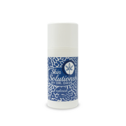 a picture of the skin solutions C B D lotion. The bottle is tall and white with a blue label. The label has a speckled pattern and says skin solutions by doctor dave replenish. Te solutions by doctor dave logo is on the top right corner. It is a zen circle with a leaf inside.