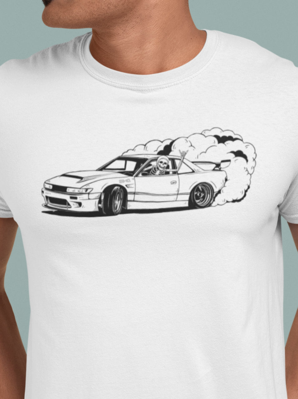 Drifting Skellie B&W Men's Tee