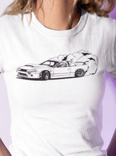 Load image into Gallery viewer, Drifting Skellie B&W Women's Slim Tee